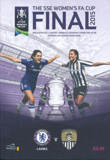 2015 Women's FA Cup Final Notts County v Chelsea - official match programme